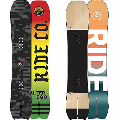 RIDE ALTER EGO MEN'S SNOWBOARD ROCKER FREERIDE Powder Swallowtail 2018 NEW