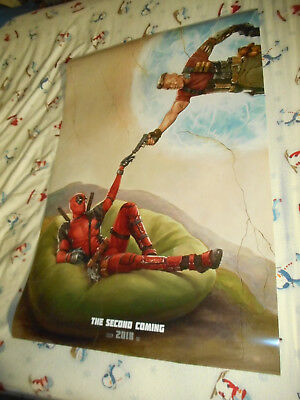 """Ryan Reynolds DEADPOOL 2 official movie poster one sheet DS 27""""x40"""" Cable v2"""