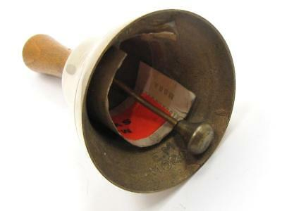 Classic Small Solid Heavy Brass Cast, Wood Handle Swedish Made Bell by MORA