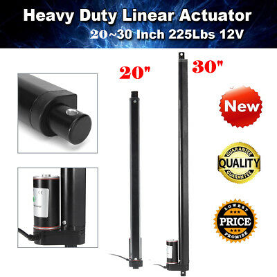 "20"" 30'' Heavy Duty Linear Actuator Motor Electric Industry Lift 900N/225Lbs 12V"