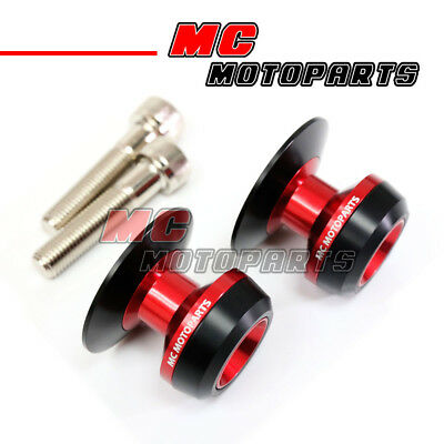Red Twall Racing M10 Swingarm Spools Sliders For Kawasaki NINJA 650R 05-12 13