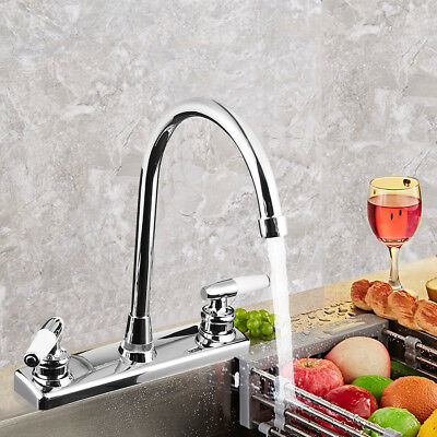 Kitchen Faucet Dual Handles Hot & Cold Basin Sink Mixer Tap for RV / Mobile Home