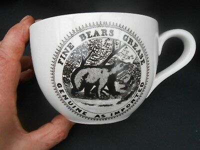 Large CHEMIST PRINTS Portmeirion * FINE BEARS GREASE GENUINE AS IMPORTED * Cup