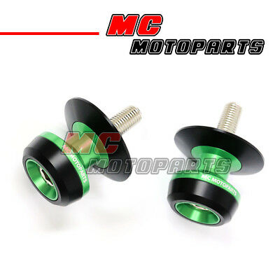 Green Twall Racing M10 Swingarm Spools Sliders For KTM 690 Duke 08-10 11 12 13