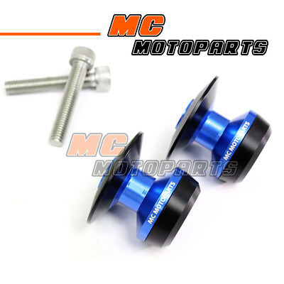 Blue Twall Racing M8 Swingarm Spools Sliders For Kawasaki ZX-6R 636 year 2013