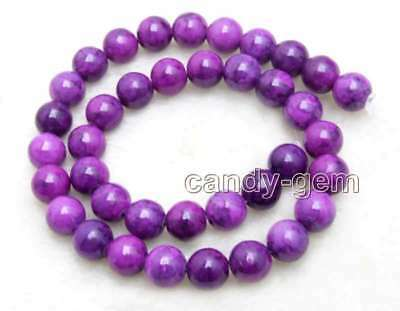 SALE Big 10mm Round Purple natural Sugilite Loose Beads strand 15'' -los766