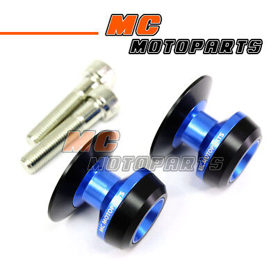 Blue Twall Racing M10 Swingarm Spools Sliders For Kawasaki Ninja 1000 SX 11-13