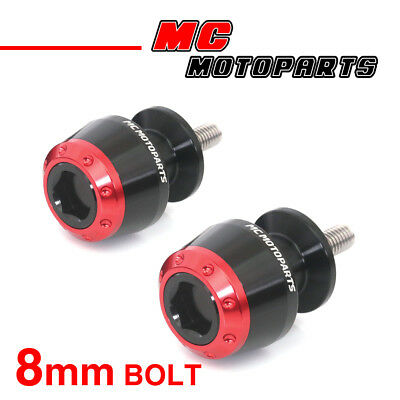 ATOM Red CNC Swingarm Spools Sliders For Kawasaki ZX-6R 636 2013-2017 13 14