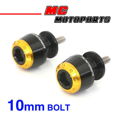 ATOM Gold CNC Swingarm Spools Sliders For Kawasaki VERSYS 650 2008-2014 08 09
