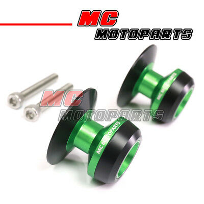 Green Twall Racing M6 Swingarm Spools Sliders For Yamaha YZF R6 99-10 11 12 13