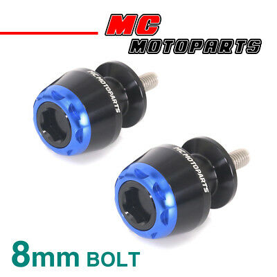 MSHINE Blue CNC Swingarm Spools Sliders For Kawasaki ZX-6R 636 2013-2017 13 14