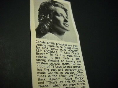 CONNIE SMITH branches out... detailed original 1968 music biz promo image w/ txt