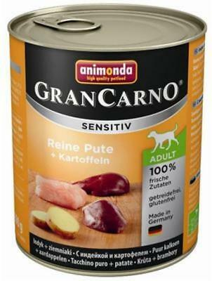 Animonda GranCarno Adult Sensitive Pute+ Kartoffeln 6 x 800g