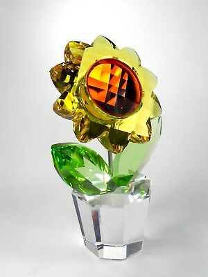 """Swarovski Crystal Large 7.5""""Sunflower 835636Happy Flowers Collection Retired"""