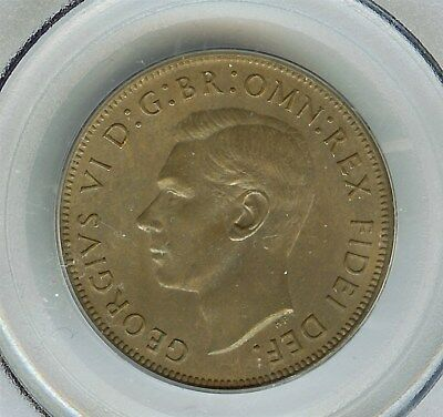Great Britain 1951 Penny  Pcgs Ms65  Br