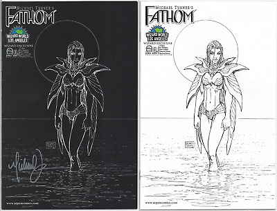 Fathom #0 Wizard World LA VIP Cover (SIGNED BY TURNER!) AND Sketch Cover!! NM-