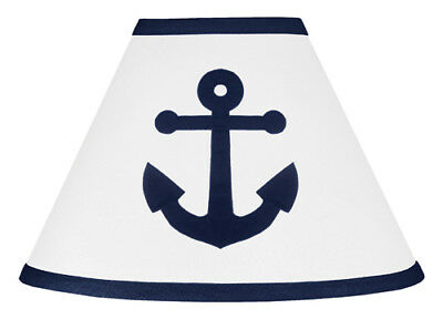 Lamp Shade For Sweet Jojo Designs Navy White Nautical Anchor Kid Boy Bedding Set
