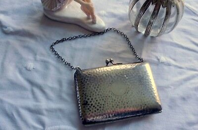 Edwardian Silver Plated EPNS Antique Small Handbag Coin Purse