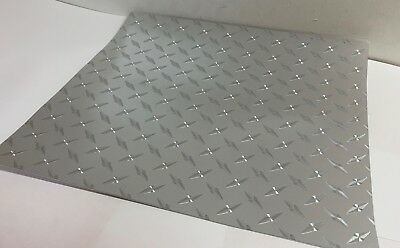 "Diamond Plate Sign Vinyl, 24""x 10 Feet, Sticky Plastic, Free Shipping"
