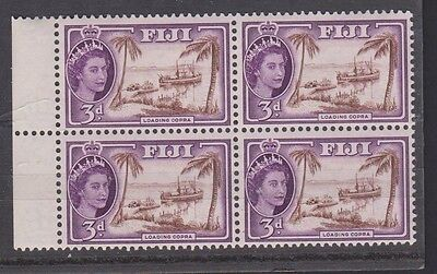FIJI  152 1954-6 Queen Eliz  mint blk NH