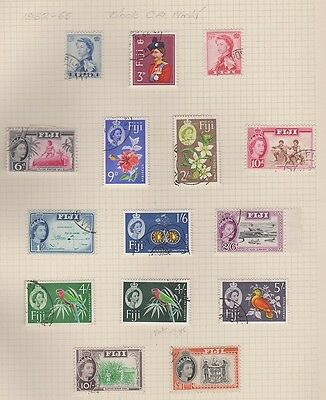 FIJI  176-89 Queen Eliz used set complete