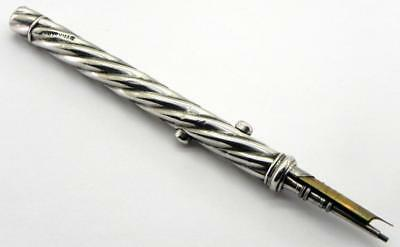 Victorian Solid Silver Combination Dip Pen Pencil, c1880.