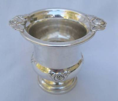 VINTAGE MUECK- CARY STERLING SILVER FOOTED URN ROSES #503 NOT WEIGHTED Ca. 1940