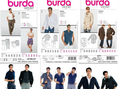 SEW & MAKE Burda SEWING PATTERNS - Mens Pants Slacks Shorts Jackets ...