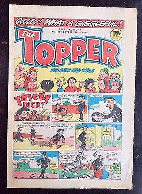 The Topper Comic 22 Oct 1983. No.1603. Unread/unsold Newsagents Stock.  Vfn+. (1