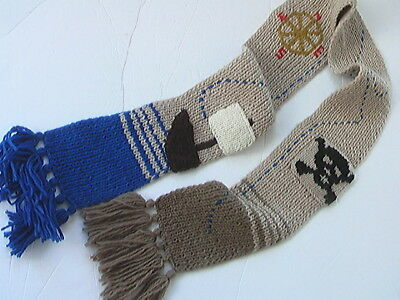 Jack Spade Scarf Wool Compass Pirate Ship Boat