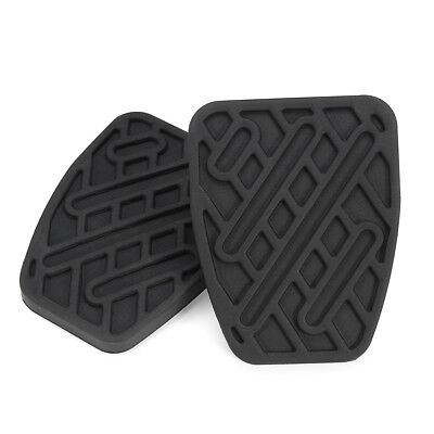 Pair Brake & Clutch Pedal Pad Rubber Covers For Nissan Qashqai (Manual)