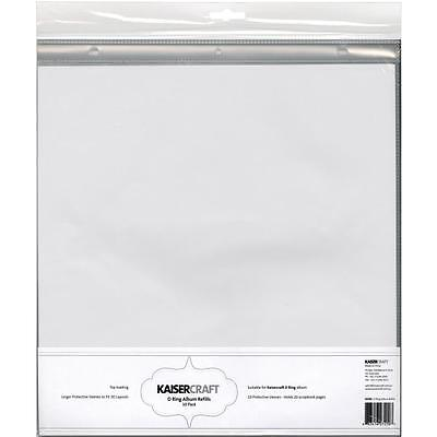 "Kaisercraft 12x12"" D-Ring Album Page Protectors - Pack of 10 - Binder Refills"