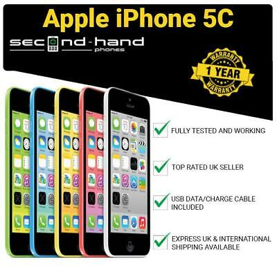 Apple iPhone 5C 8GB 16GB 32GB White Blue Green Pink Yellow Unlocked 12M Warranty