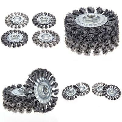 115mm Angle Grinder 4Pcs M14 Crew Cup Brush Wire Wheel HY8