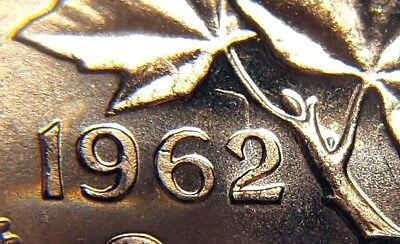 Canada 1962 Small Cents Gem BU Hanging 2 Variety Penny!!
