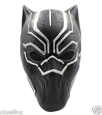 adult latex Marvel BLACK PANTHER Captain America Civil War Mask helmet halloween