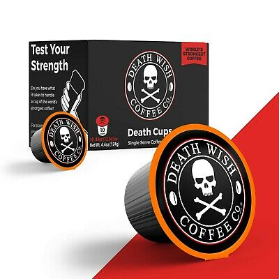 Death Wish Coffee Co (Official) - Worlds Strongest Coffee: Single Serve 10 Count