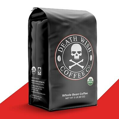 Death Wish Coffee Company - Worlds Strongest Coffee: 5 Pound Whole Bean