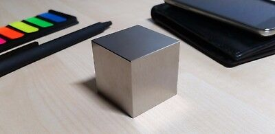 Tungsten 1kg Kilo Cube Block Weight pure (99.95% W) with rounded edges