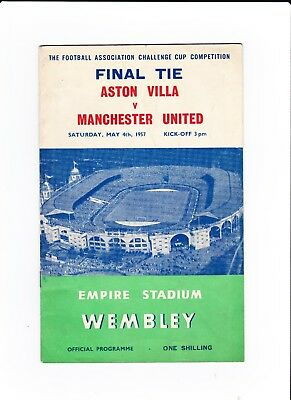 1957 F.A.Cup Final.Aston Villa v Manchester United.