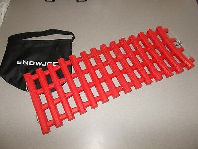 SnowJoe red winter Automobile roll up emergency traction mat track assist new