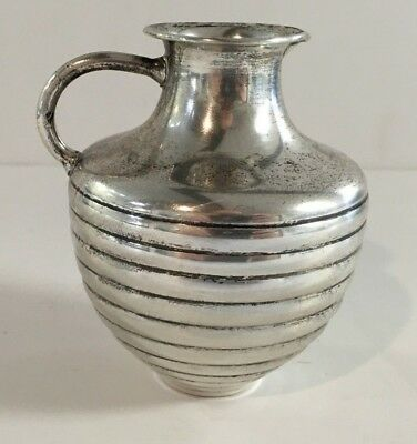 Antique Unknown Maker Sterling Silver .925 (99.7 Grams) Cream Pitcher Hollowware