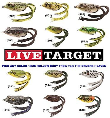 Choice of Colors Koppers 55 Hollow Body Live Target Frog