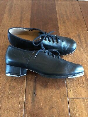 Bloch Black Leather Oxford Tap Shoes Sz 7 High Quality Techno Tap Retail $80