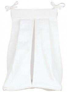 Trend Lab White Waffle Pique Baby Diaper Stacker