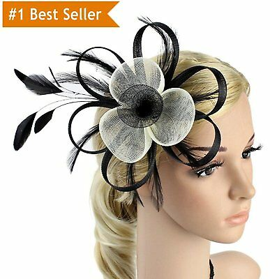 Merya Dress Kentucky Derby Fascinator Hats Feather Prom Cocktail Tea Party Hat