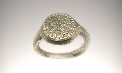 AD200 Genuine Ancient Roman Provincial Moesia (Bulgaria) Engrave Silver Ring Sz5