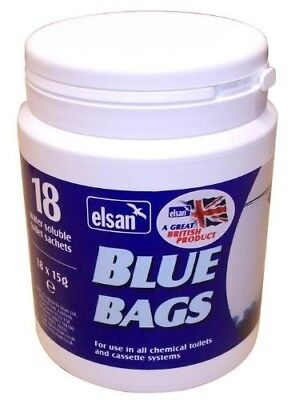 Elsan Blue Bags - Pot of 18 Sachets with 3 Extra Free