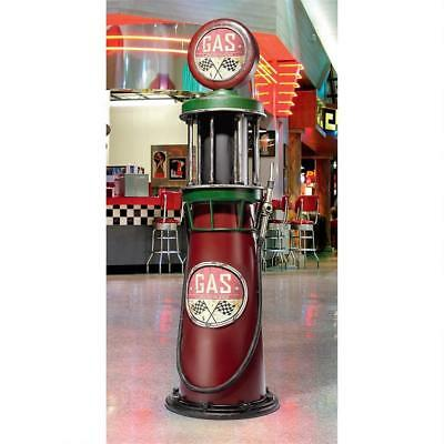 "Vintage Gas Station 76"" Metal Petrol Collectible Gas Pump Retro Sculpture NEW"