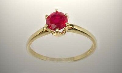 19thC Siamese Antique 1ct Ruby Ancient Warrior Invulnerability Magic Amulet 14kt